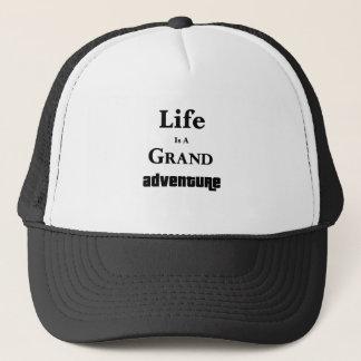 Life Is Grand Adventure Trucker Hat