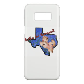 Life is Grand Dog in Texas Bluebonnets Galaxy Case-Mate Samsung Galaxy S8 Case