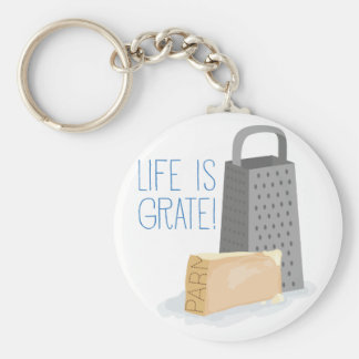 Life is Grate Basic Round Button Keychain