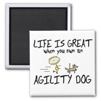 Life is Great Agility Dog Magnet