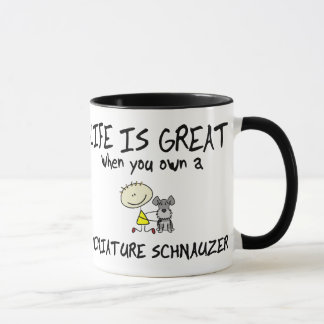 Life is Great Miniature Schnauzer Mug
