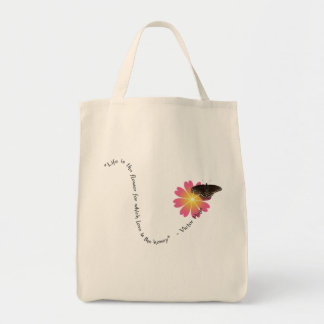 """""""Life Is"""" Grocery Tote"""