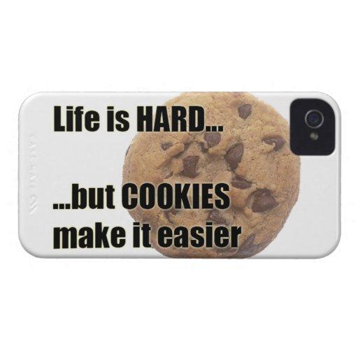 Life is HARD but COOKIES make it easier blackberry Blackberry Case