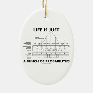 Life Is Just A Bunch Of Probabilities (Stats Fun) Ceramic Oval Ornament
