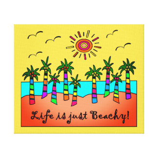 Life Is Just Beachy Canvas Print