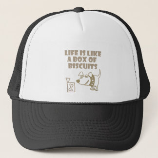 Life is like a box of Biscuits Dog Cartoon Trucker Hat