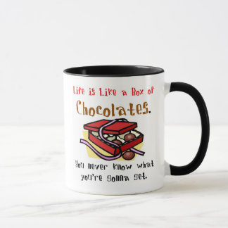 Life is Like a Box of Chocolates.  Mug