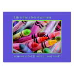 Life is like a box of crayons