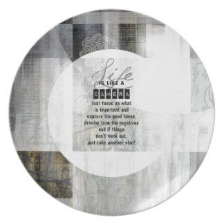 Life is Like a Camera Plate