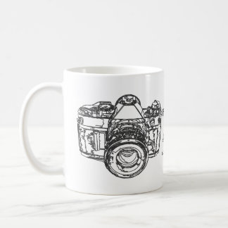Life is like a camera quote classic white coffee mug