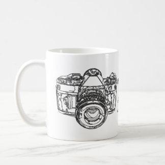 Life is like a camera quote classic white coffee mug