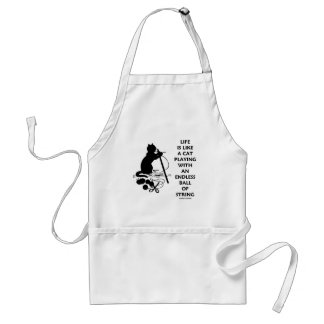 Life Is Like A Cat Playing Endless Ball String Standard Apron