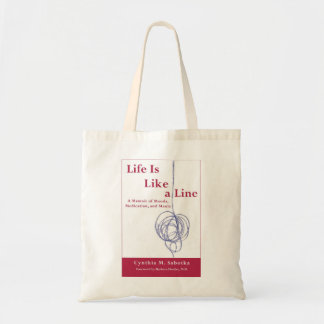 Life Is Like a Line Authentic Bipolar Book Tote