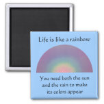 Life is like a Rainbow - mgnet Refrigerator Magnets