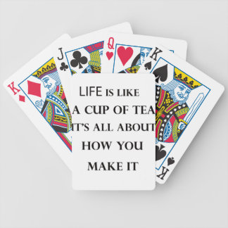 life is like cup of tea bicycle playing cards
