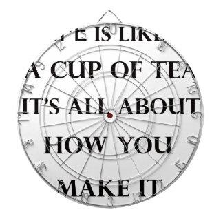 life is like cup of tea dartboard