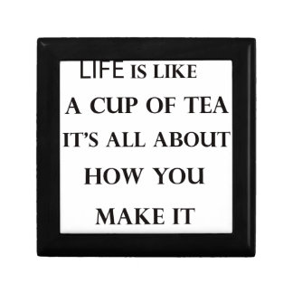 life is like cup of tea gift box
