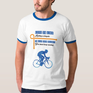 Life is like riding a bicycle Men T-shirt