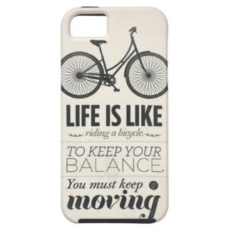 Life Is Like Riding a Bicycle Quote Iphone 5 Case