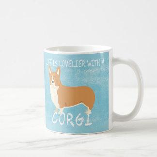 Life is lovelier with a Corgi.. dog mug