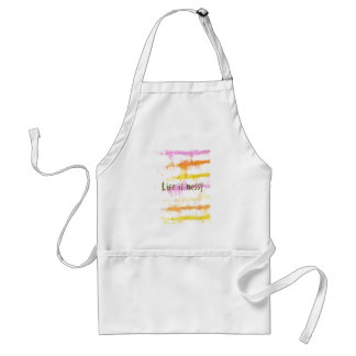 Life is messy Abstract Dripping Paint Stripes Standard Apron