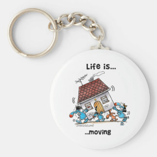 Life is Moving Basic Round Button Keychain
