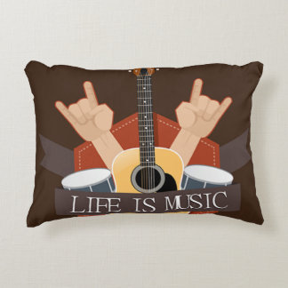 Life Is Music Accent Pillow