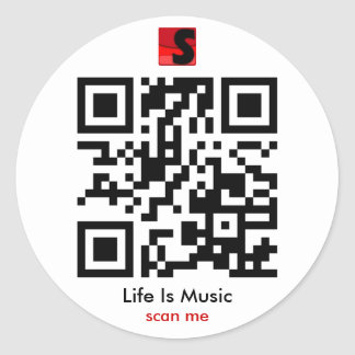Life Is Music QR Sticker
