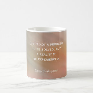 Life is not a problem - coffee mug