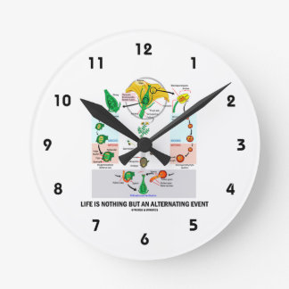 Life Is Nothing But An Alternating Event (Flower) Wall Clock
