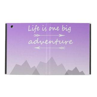 """Life is one big adventure"" iPad 2/3/4 case iPad Covers"