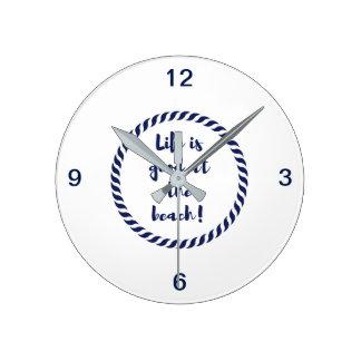Life is... round clock