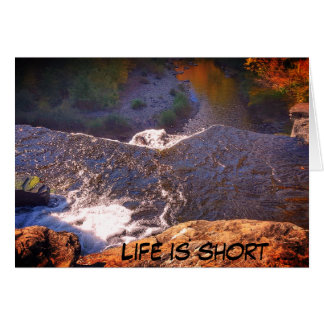 """Life is Short"" Birthday Card"
