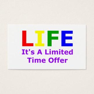 Life Is Short Business Card