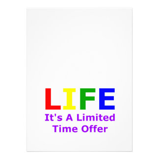 Life Is Short Invites