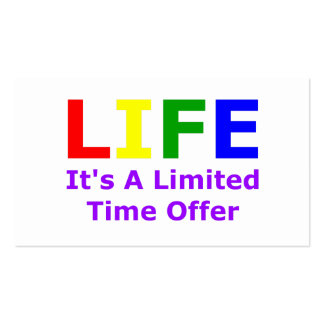Life Is Short Pack Of Standard Business Cards