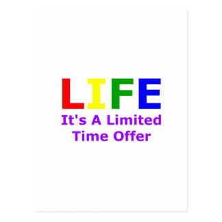 Life Is Short Postcard