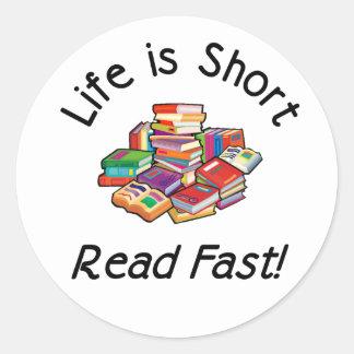 Life is Short Round Stickers, 2 sizes Classic Round Sticker