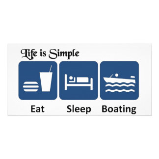 Life is simple, boating card