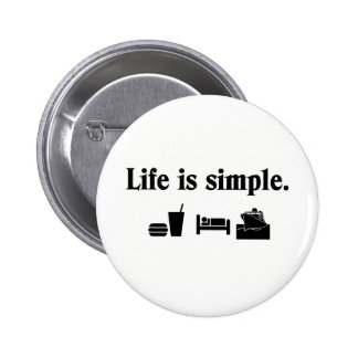 Life is simple, cruise 2 inch round button