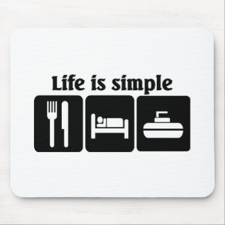 Life is simple, Curling Mouse Pad