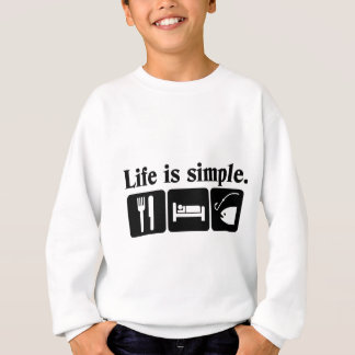 Life is simple, fish sweatshirt
