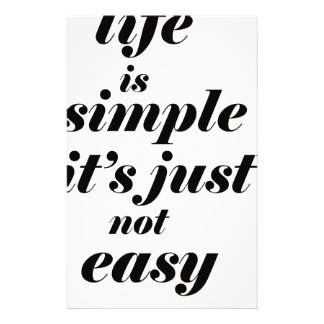 life is simple it;s just note easy stationery