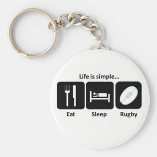 Life is simple Rugby Keychain