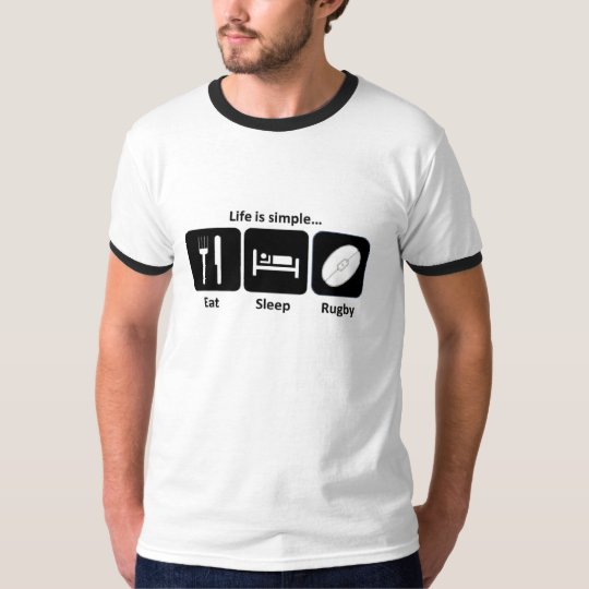 Life is simple Rugby T-Shirt