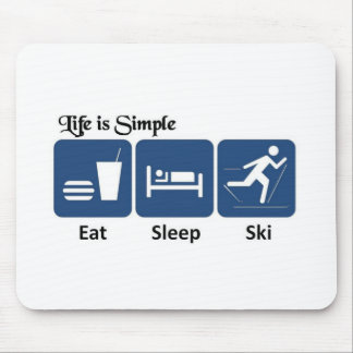 Life is simple, ski mouse pad