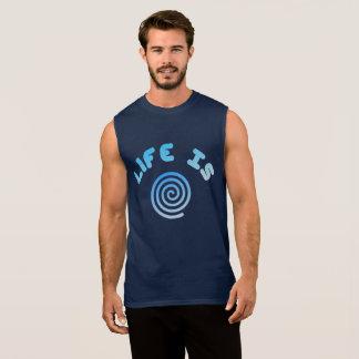 Life Is Spiral Sleeveless Shirt