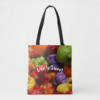 Life is Sweet Candied Popcorn Tote Bag