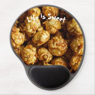 Life is Sweet Caramel Popcorn Gel Mousepad
