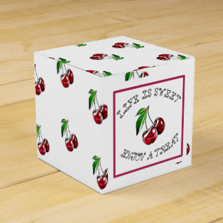Life is Sweet, Cherry Party Candy Favor Box